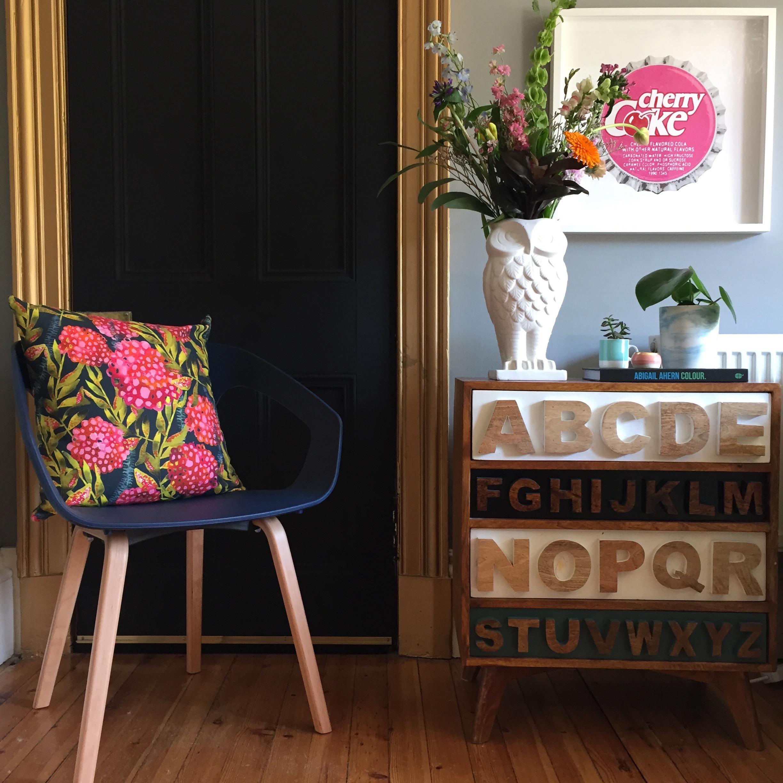 Cushion, Emilia Georgie Designs; Vase, Graham & Green