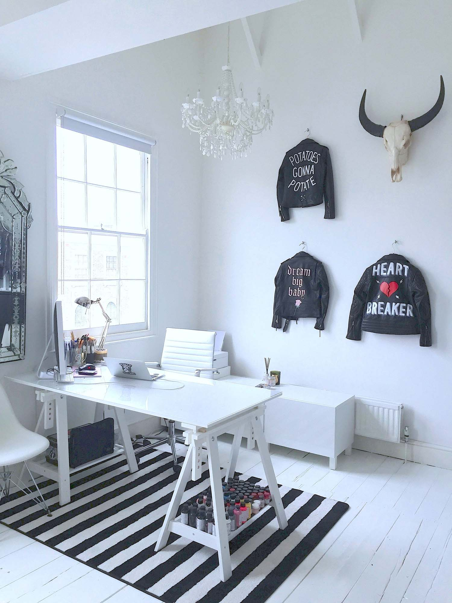 Laurie's top floor home studio was created by knocking together two bedrooms