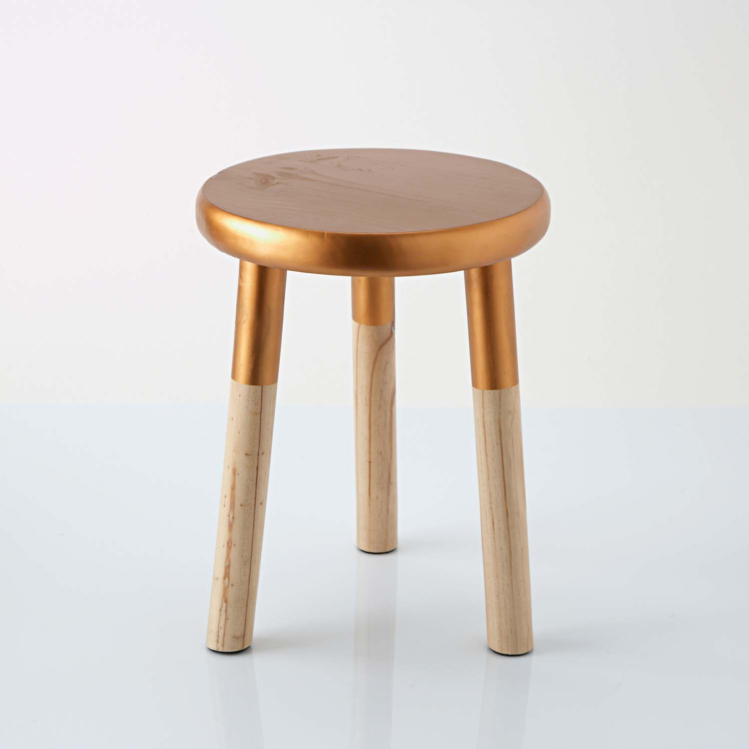 Elori Stool - This stool proves my point that copper and natural wood look just peachy together. This would be adorable beside a dressing table, or could work as a pretty hostess table beside your sofa