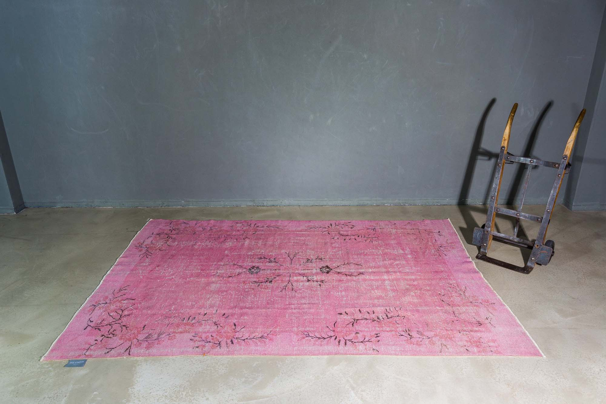 Pioneer Works pink vintage rug from The Knots