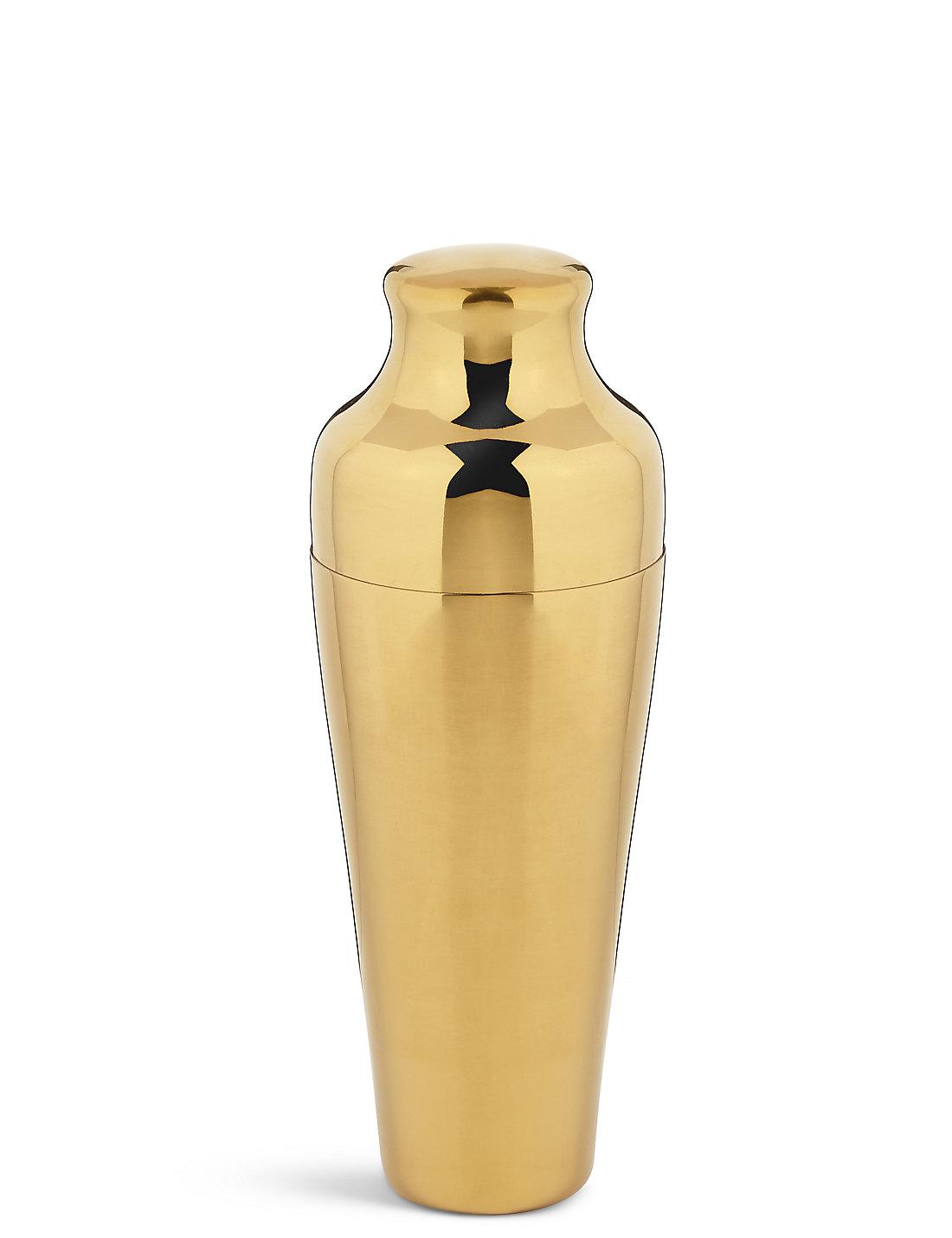 GOLD:  Marks & Spencer Manhattan cocktail shaker