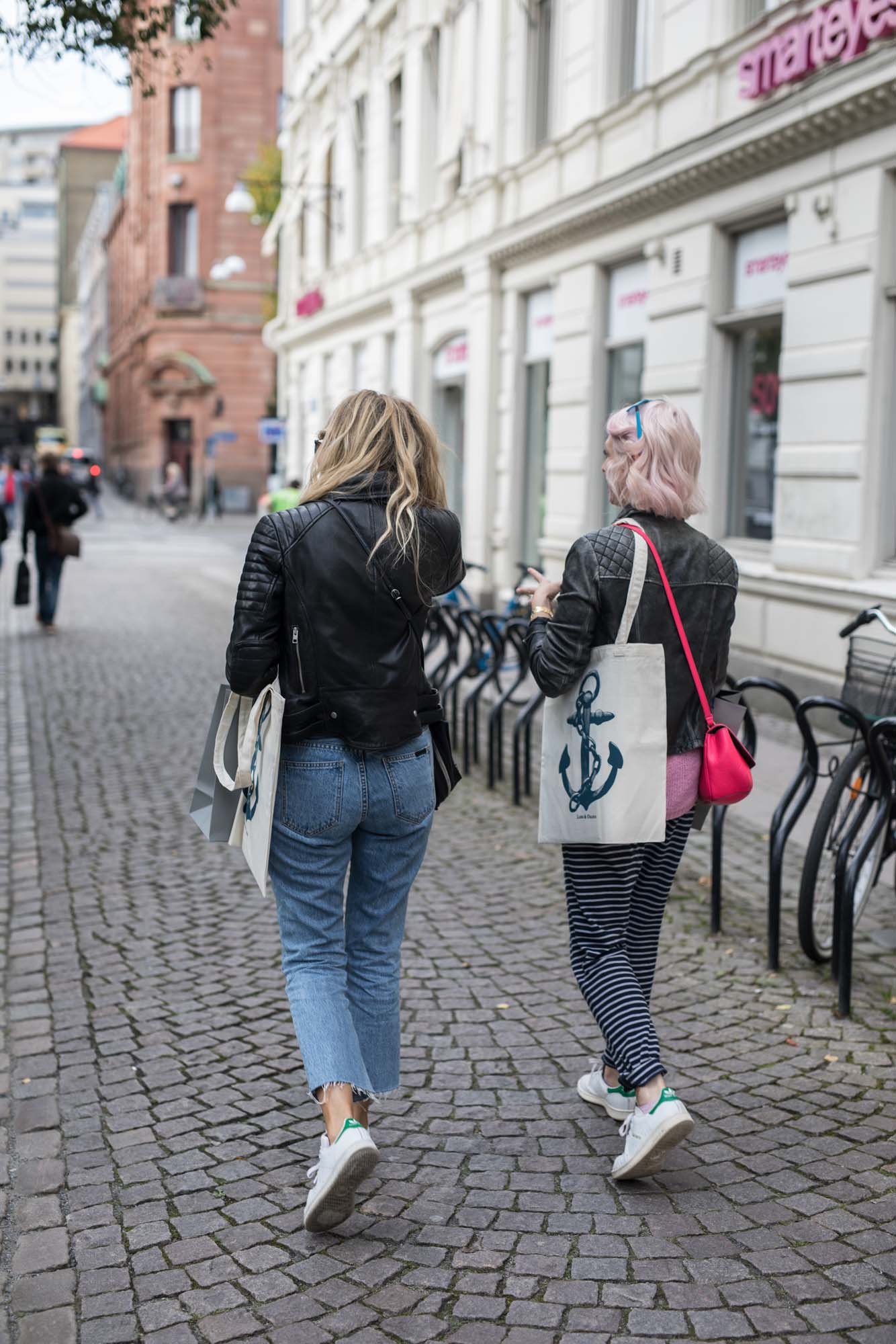 Shopping the streets of Gothenburg: me and  Arianna  both got the Stan Smiths memo