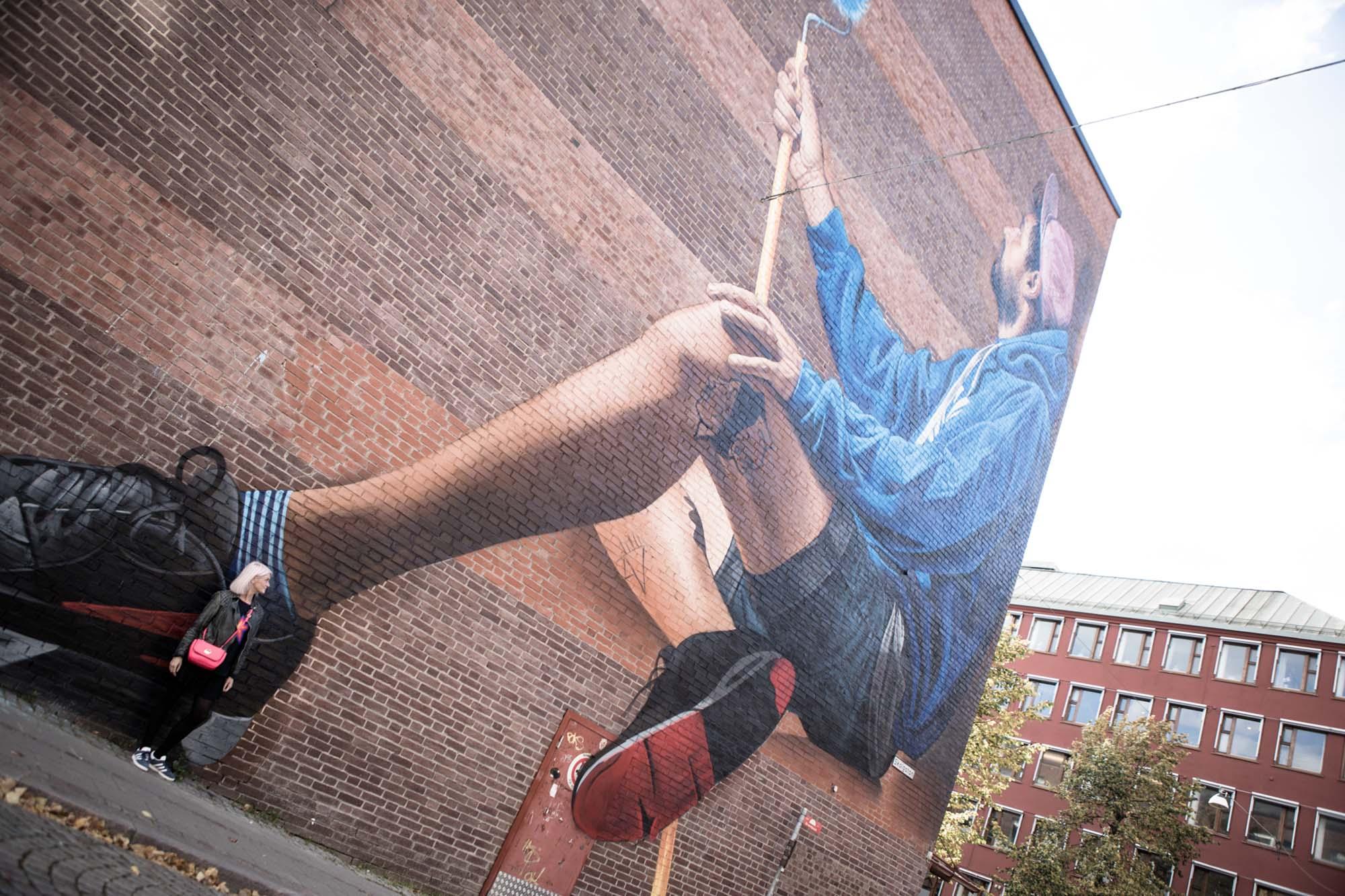 Street art in Boras, Sweden