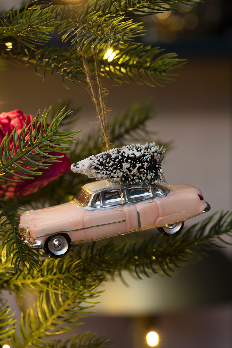 Pink cadillac Christmas tree decoration