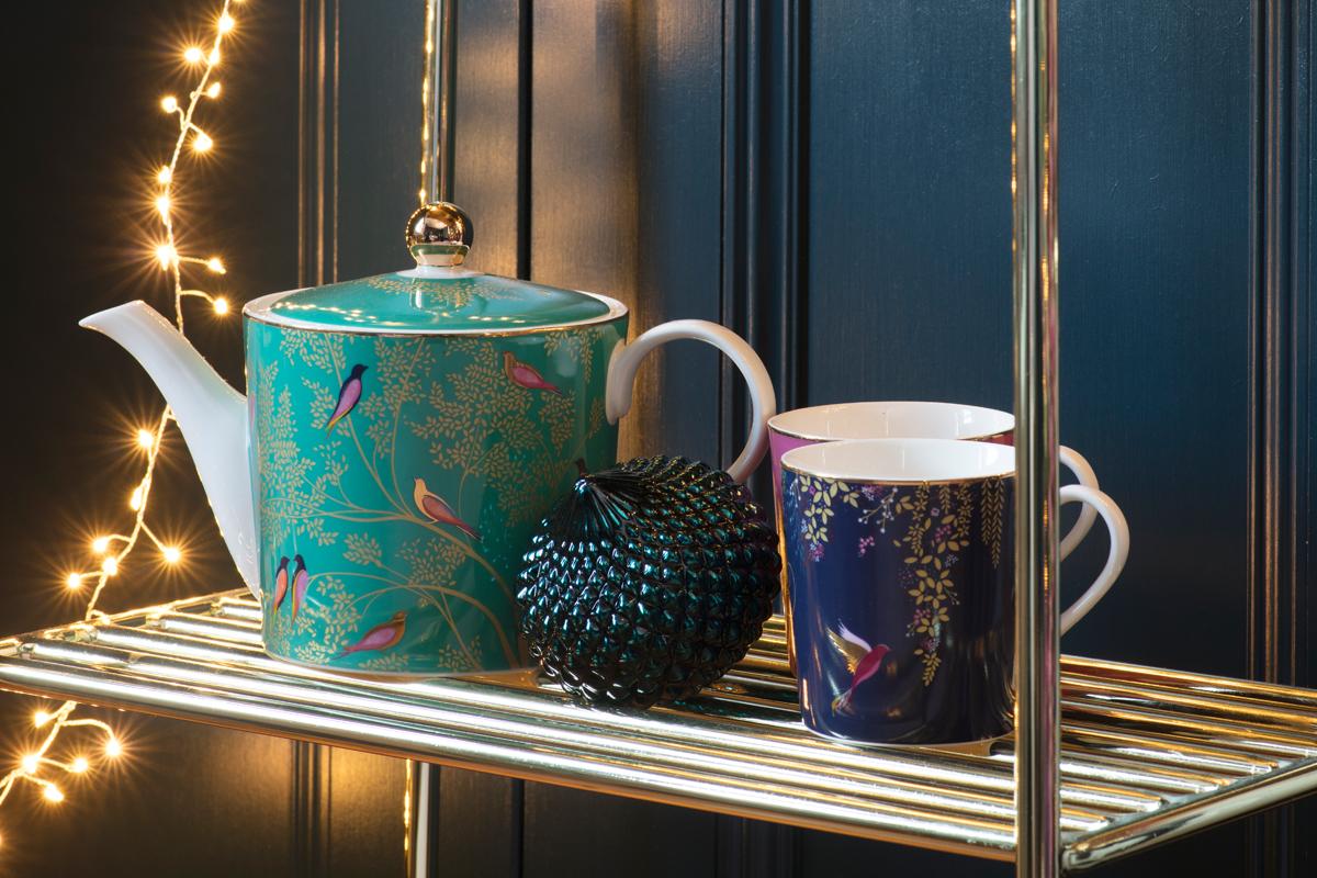 Sara Miller London Portmeirion teapot and cups