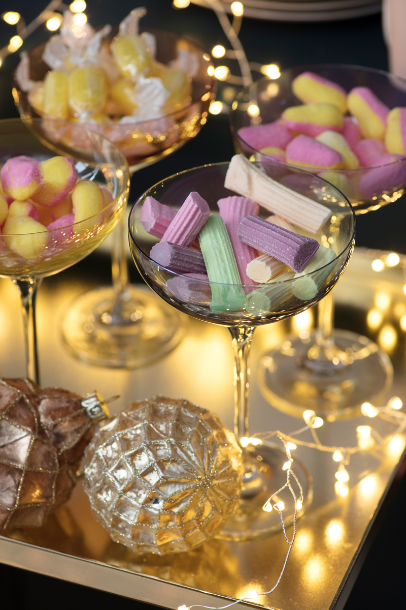 LSA pastel champagne coupes