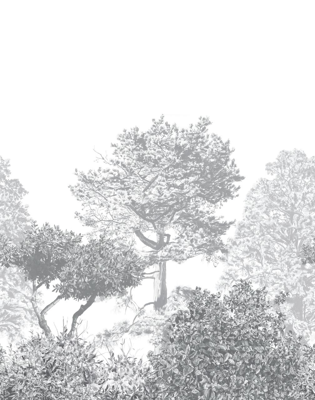 Hua Trees mural by Sian Zeng
