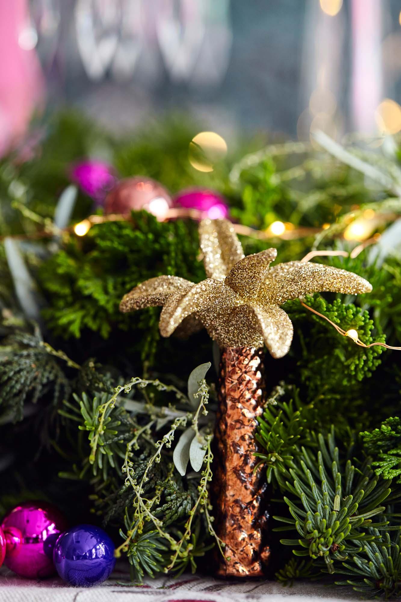 Palm tree Christmas decoration
