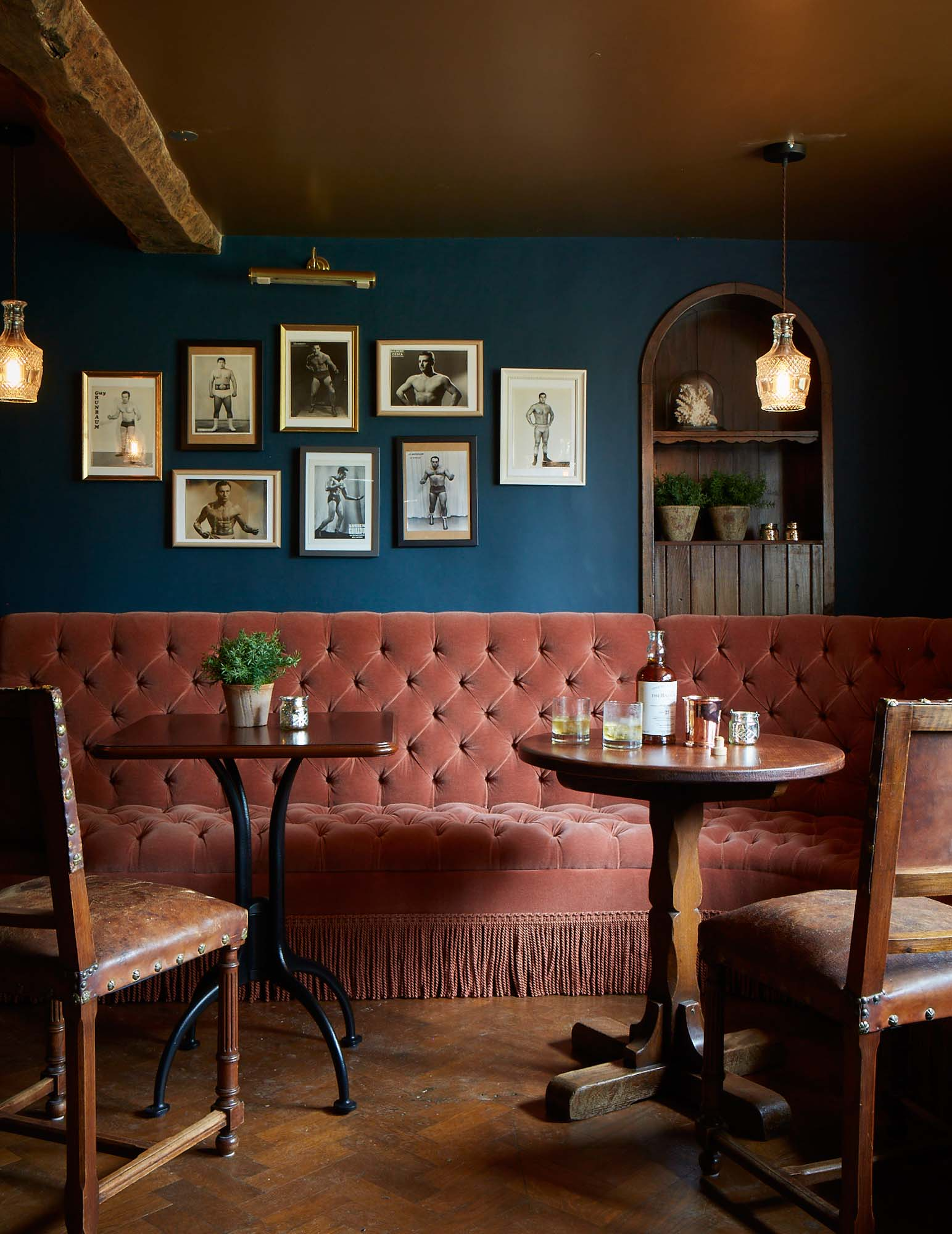 Sumptuous seating in the restaurant