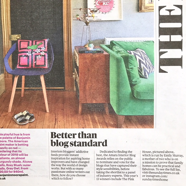 The Pink House Amara IBA 2017 win in The Sunday Times