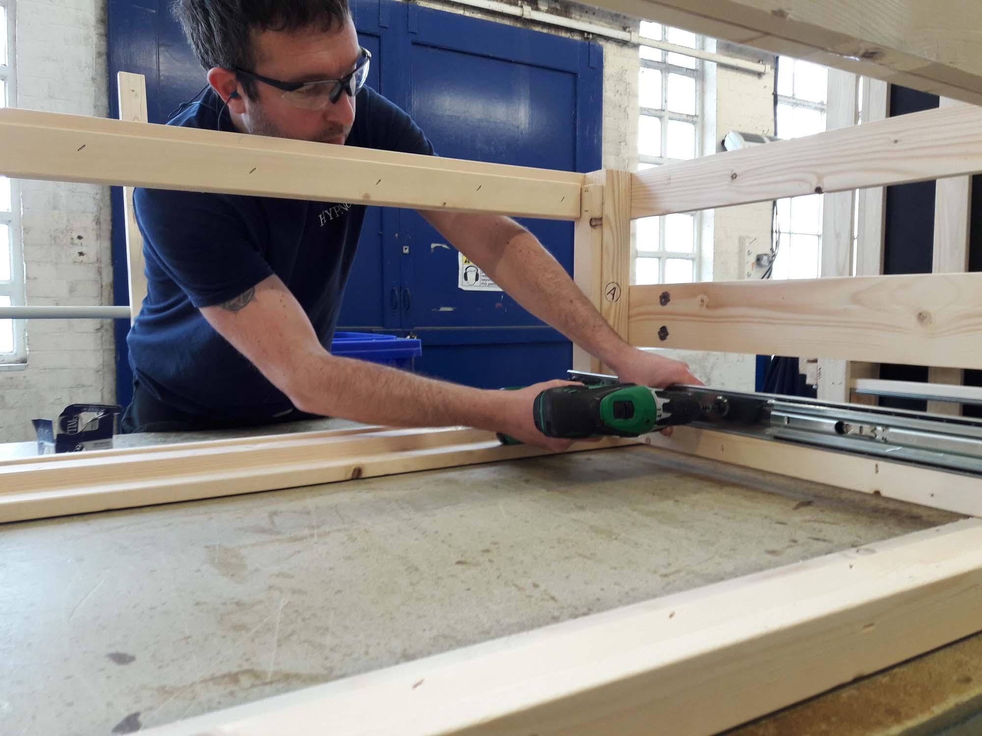 My divan being constructed