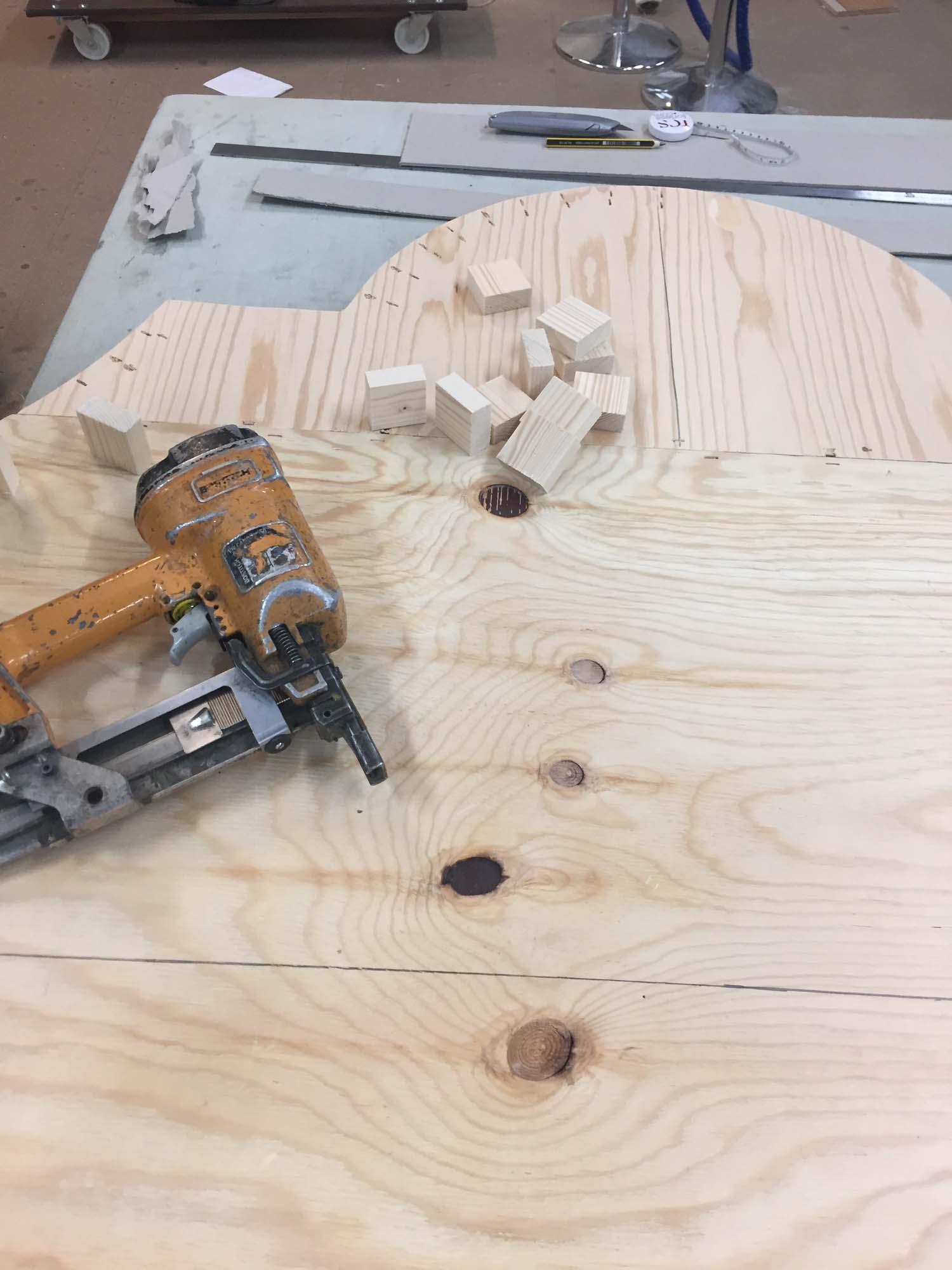 Shaping my headboard