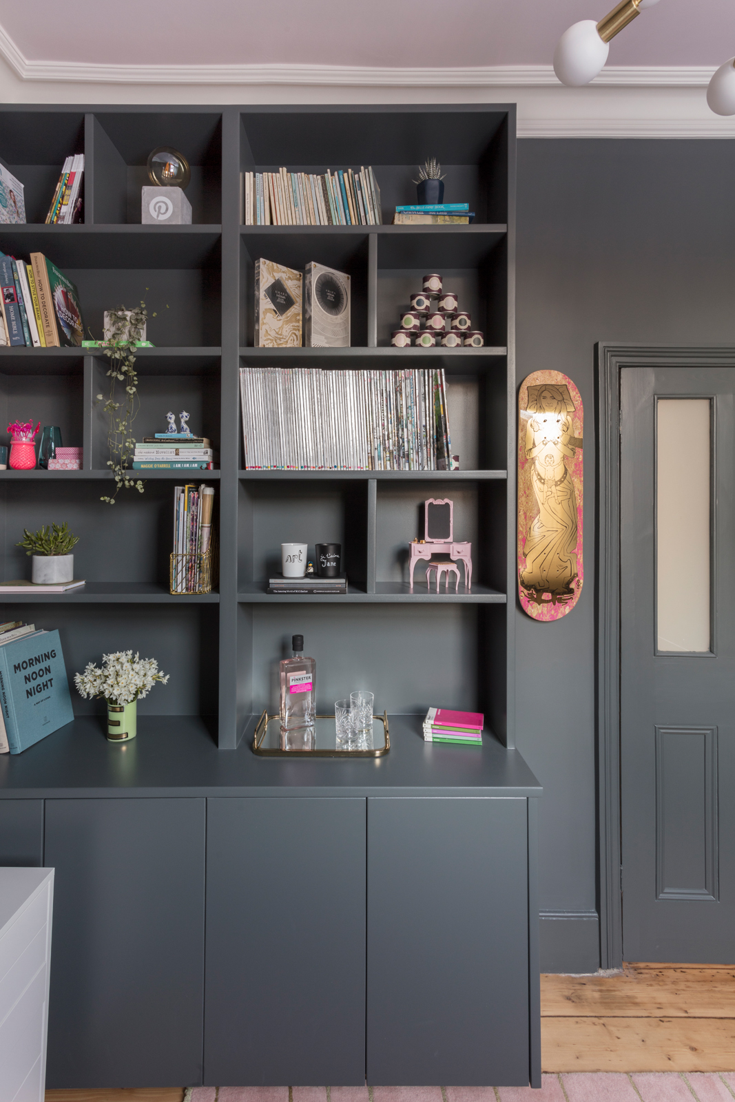 AFTER! Shelves by Freeborn Carpentry, 'Kateboard' by Grayson Perry/Photo: Susie Lowe