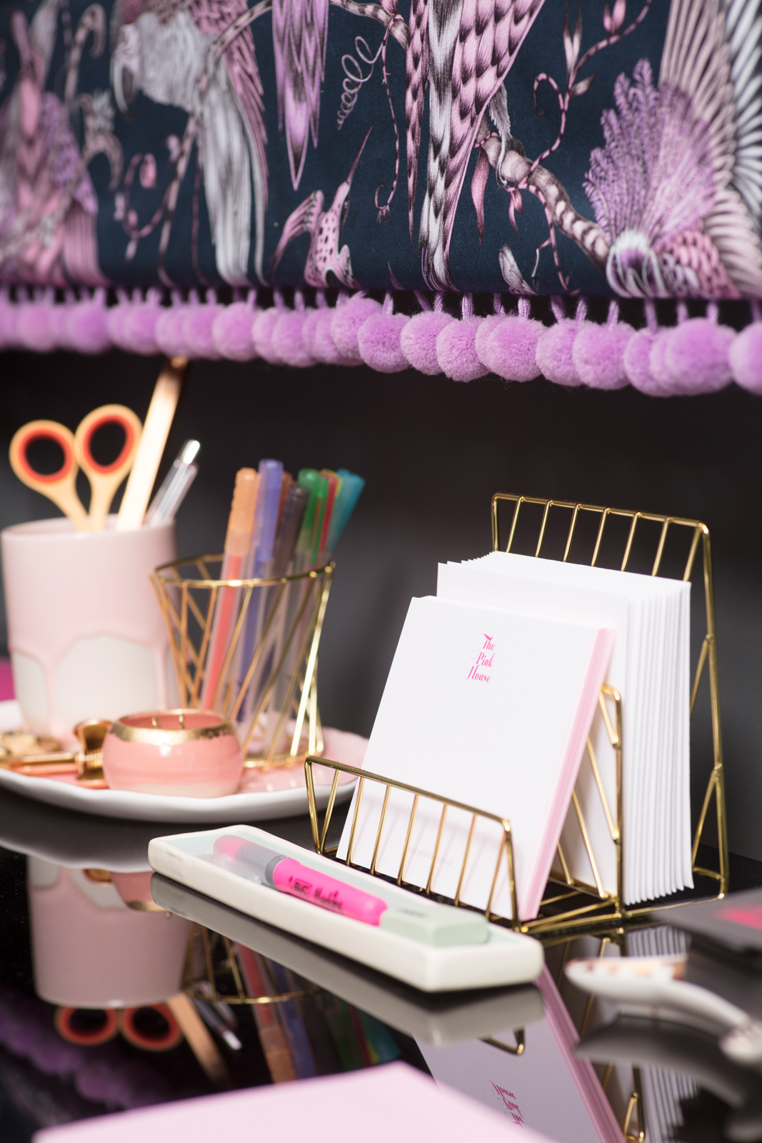Paperchase gold and pink stationery