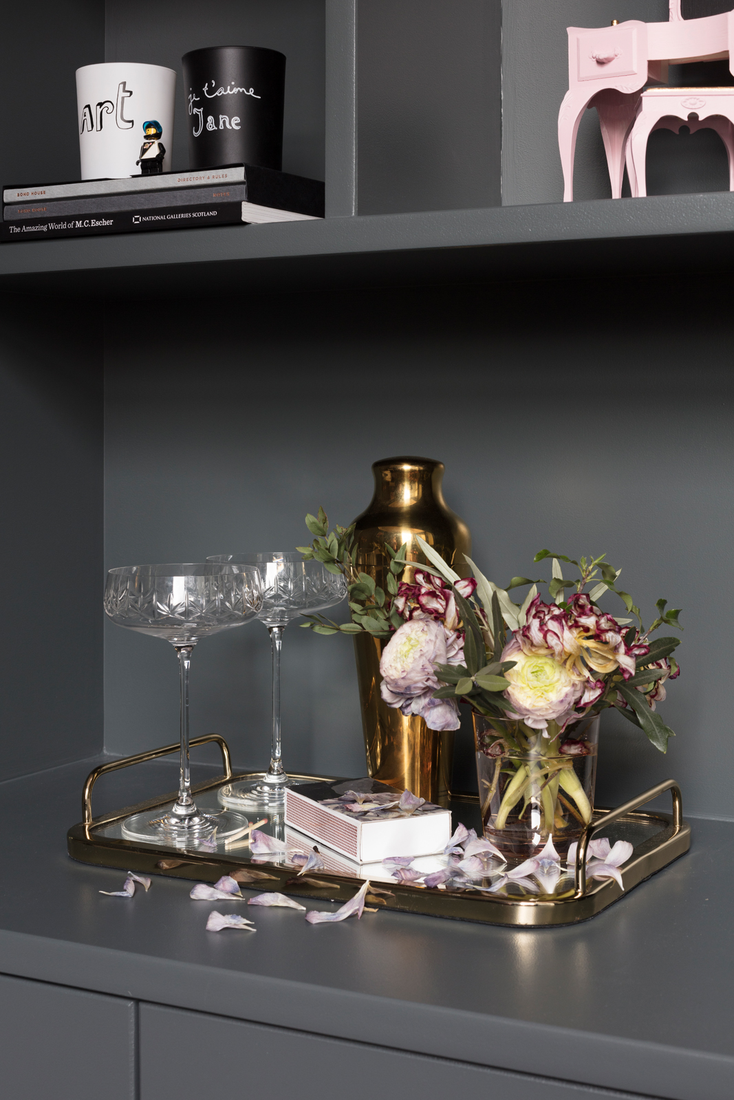 Mirrored drinks tray from Marks & Spencer