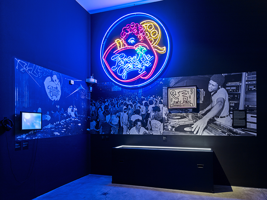 Inside the Night Fever exhibition/photo: Mark Niedermann