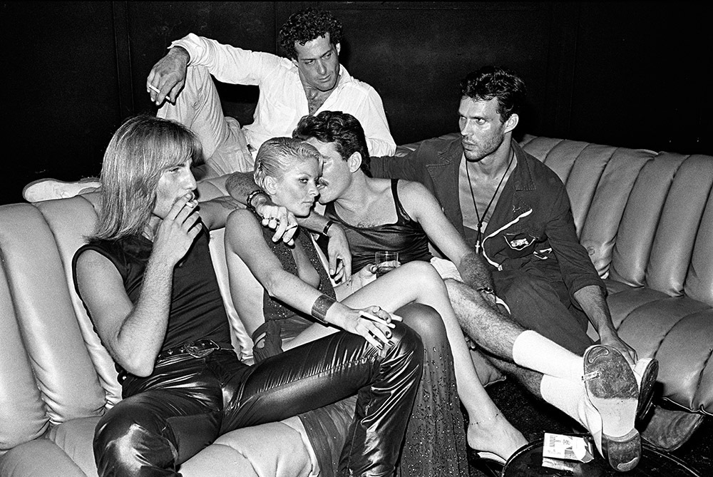 Guests in Conversation on a Sofa, Studio 54, New York, 1979