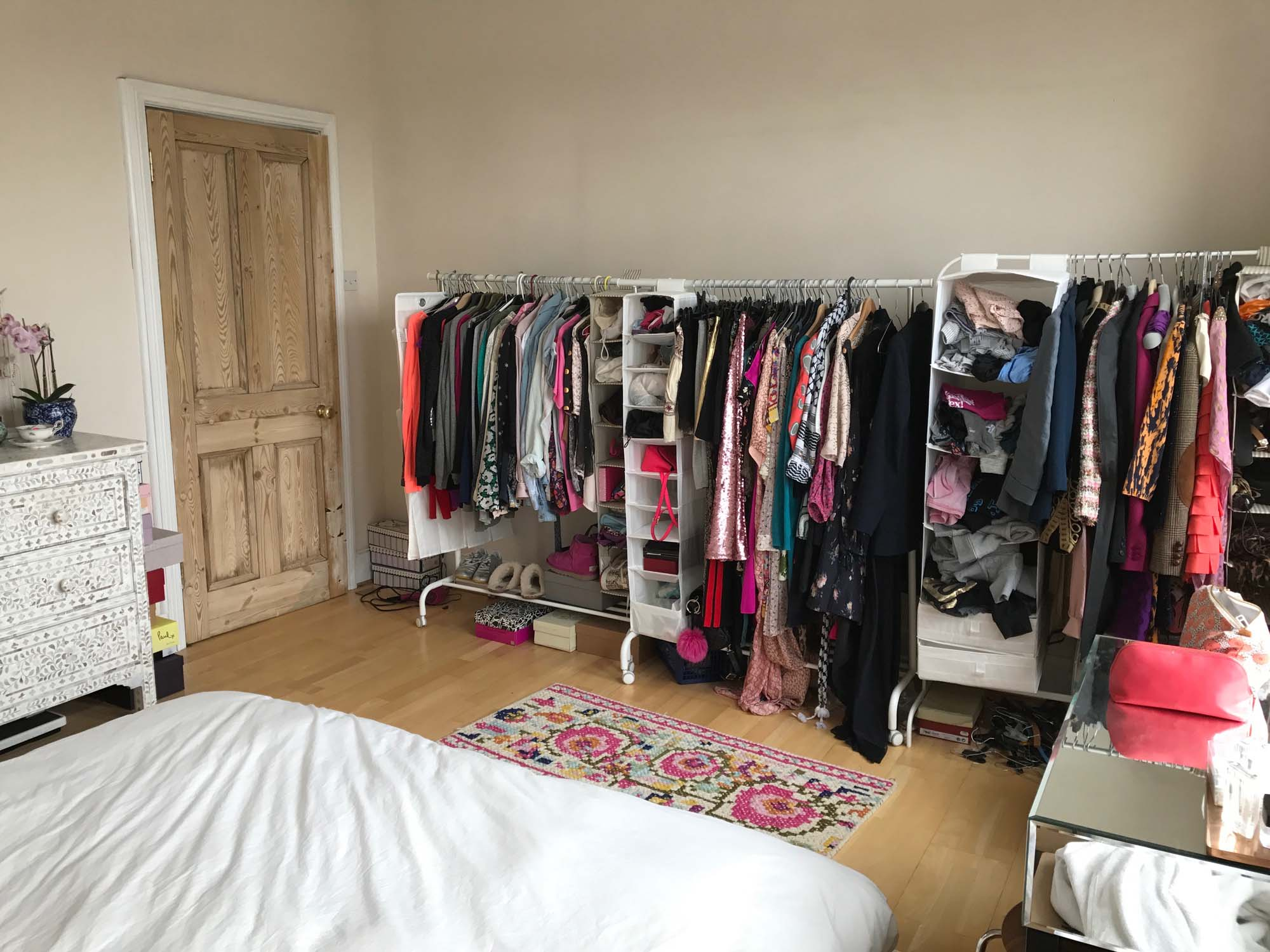 BEFORE: These are just (some of) my clothes; PHH's are in the spare room