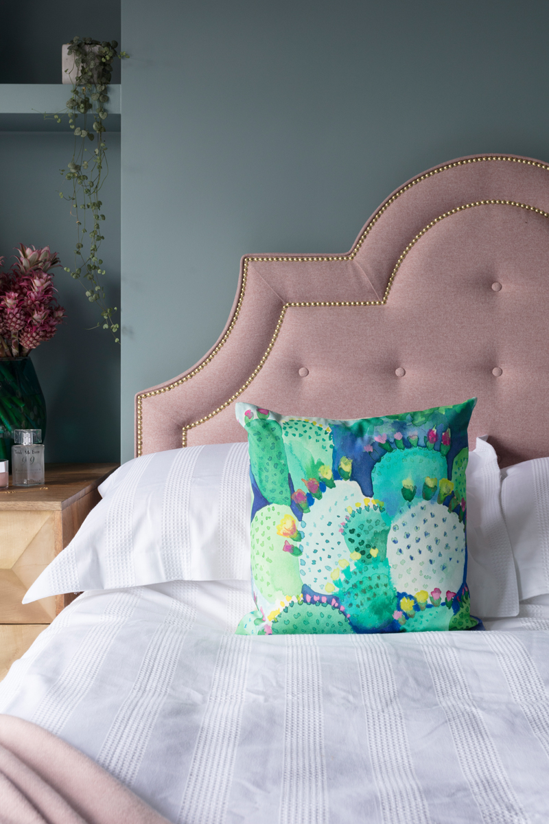 Marks & Spencer bedding and Bluebellgray cactus cushions