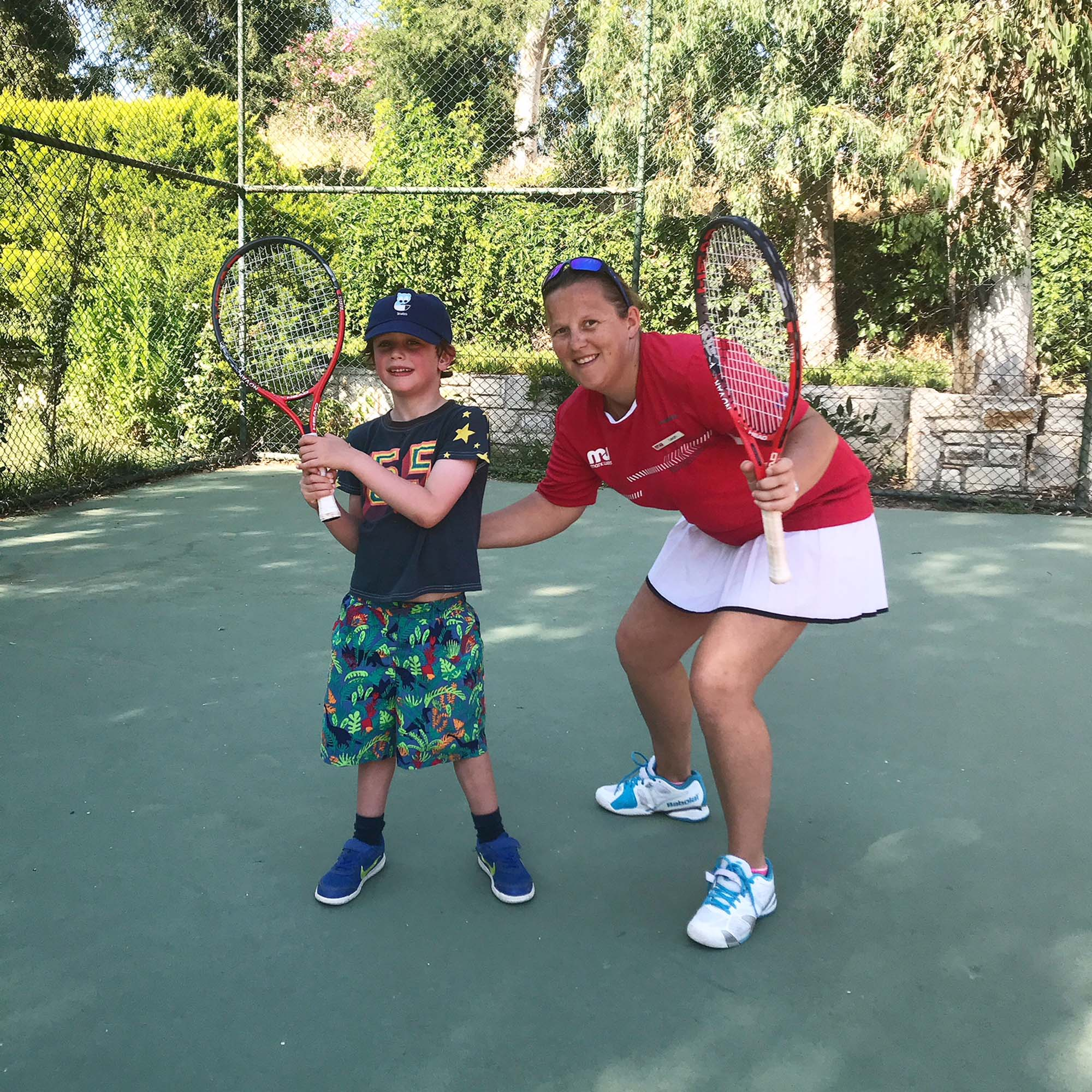 Private tennis lesson with lovely Coach Leah