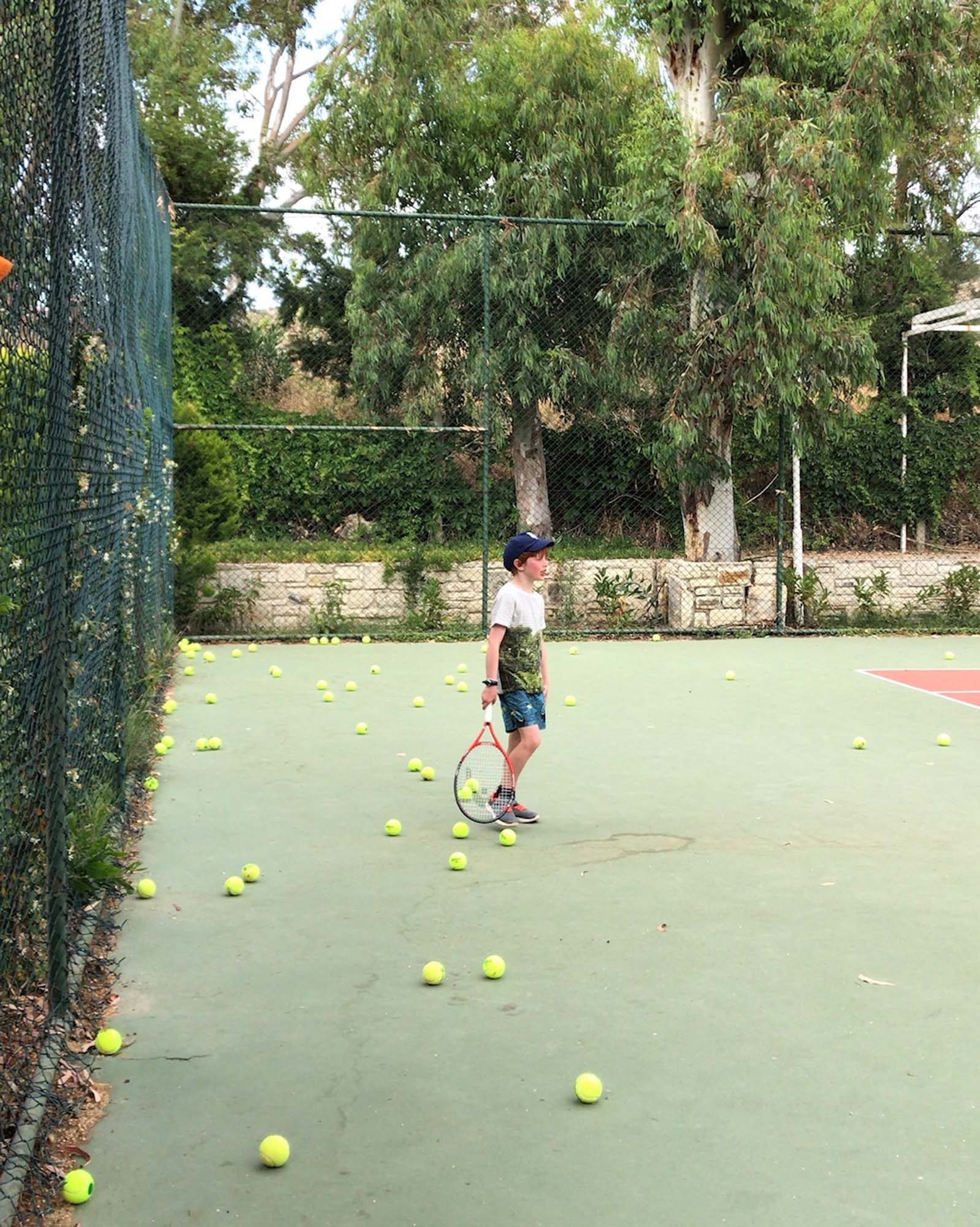 Oscar's tennis lesson