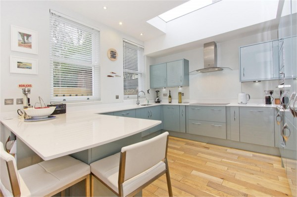 BEFORE: Our kitchen as it appeared in the estate agent's brochure