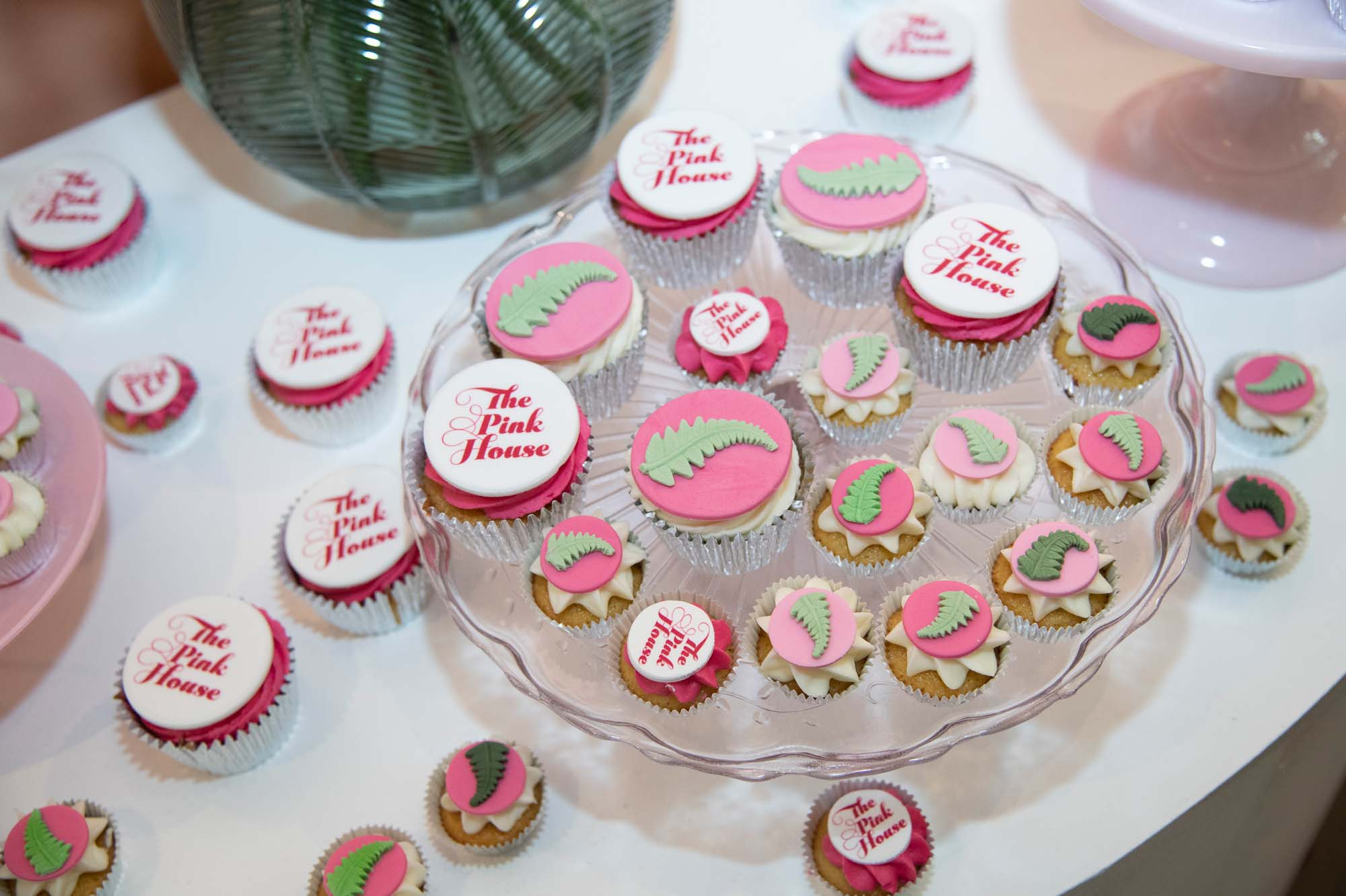 Cracking Cakes pink logo cupcakes for The Pink House