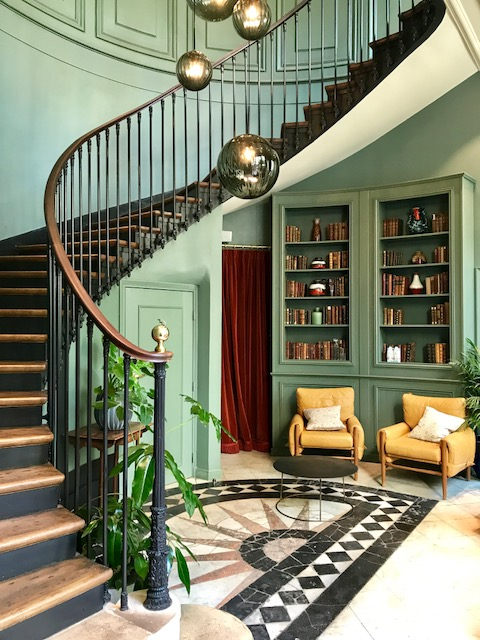 The stunning staircase at The Hoxton Paris