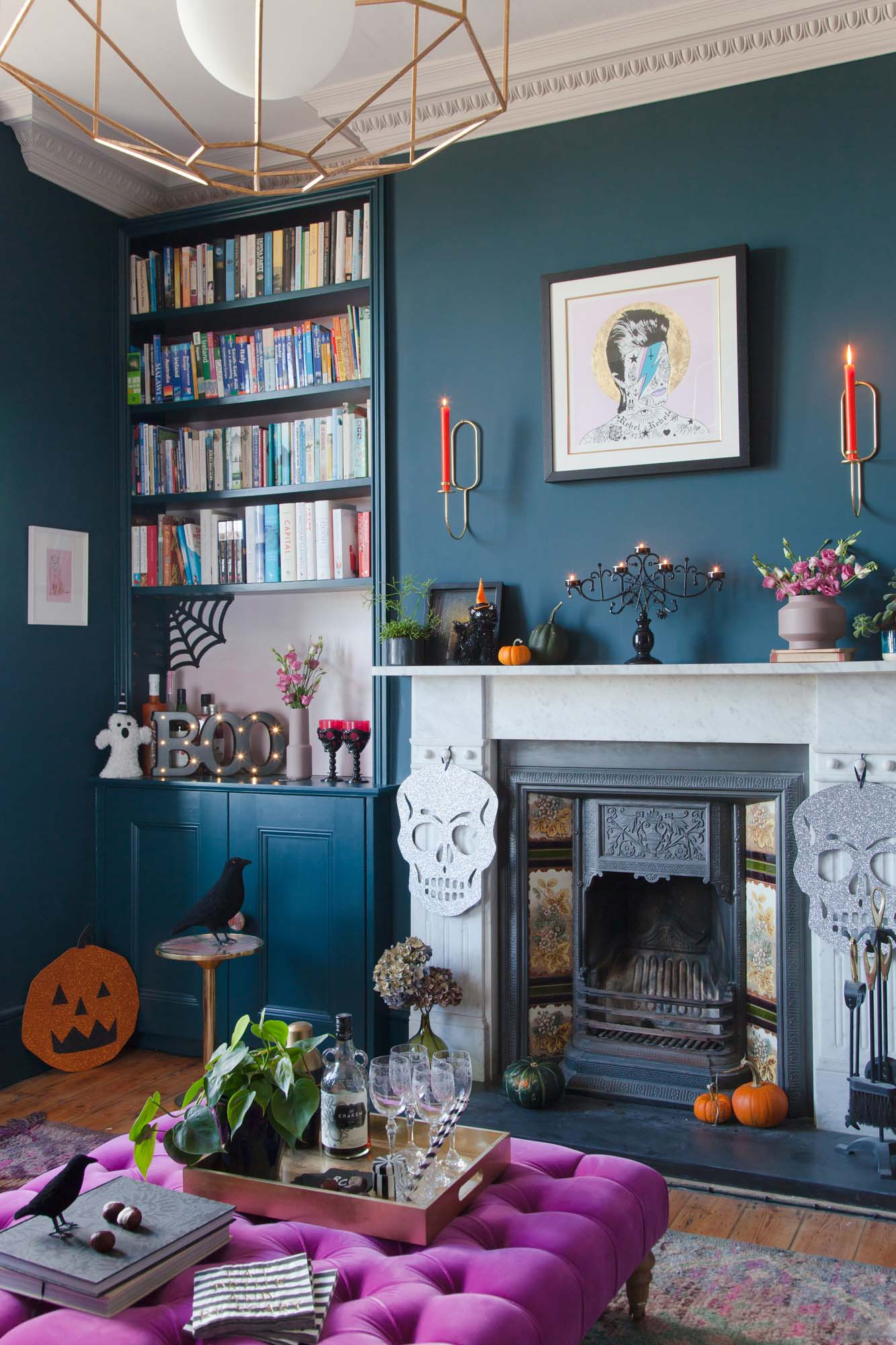 Halloween drinks party with Sainsbury's styled in The Pink House