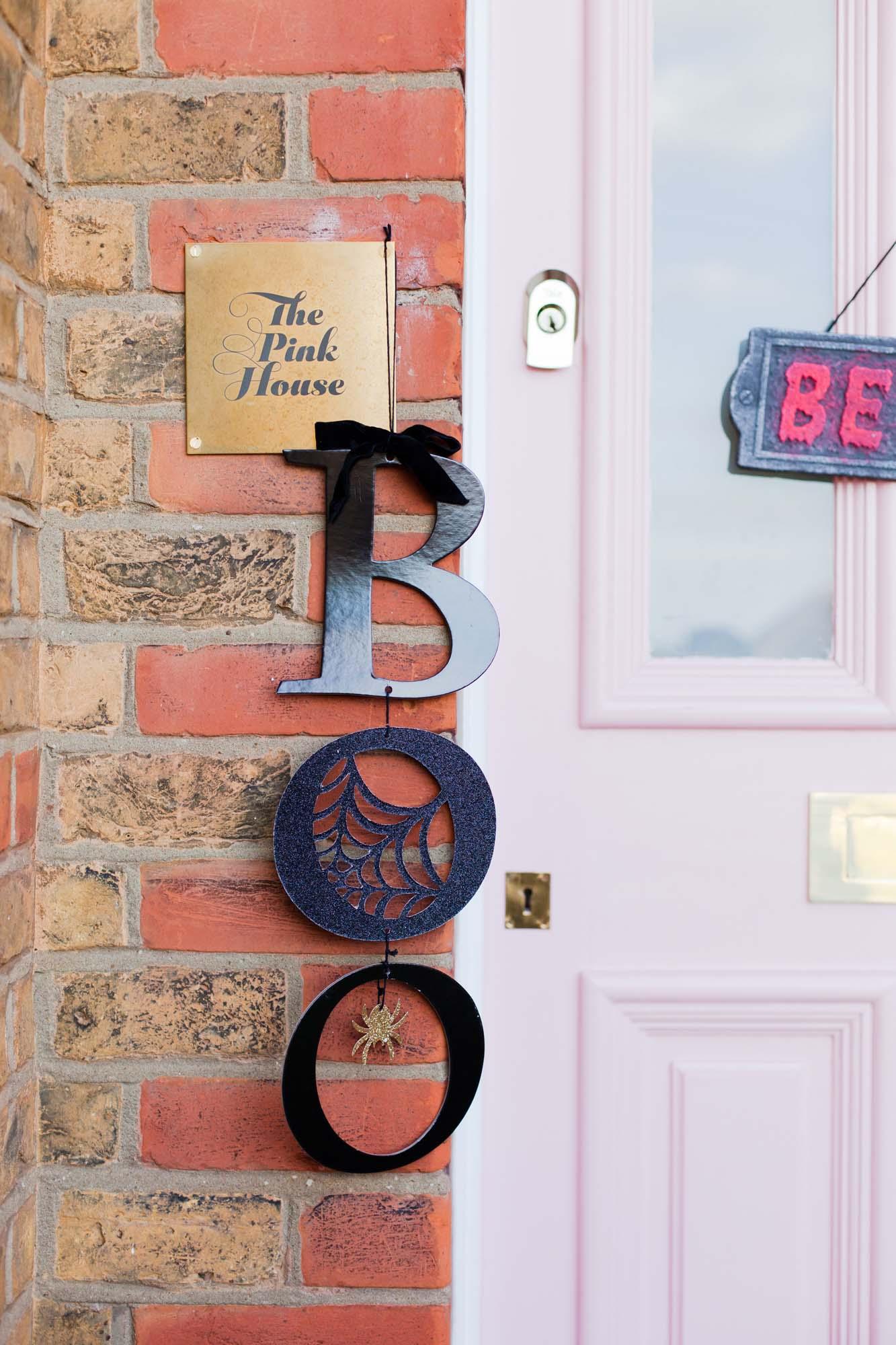 Boo door decoration from Sainsbury's Home Halloween range