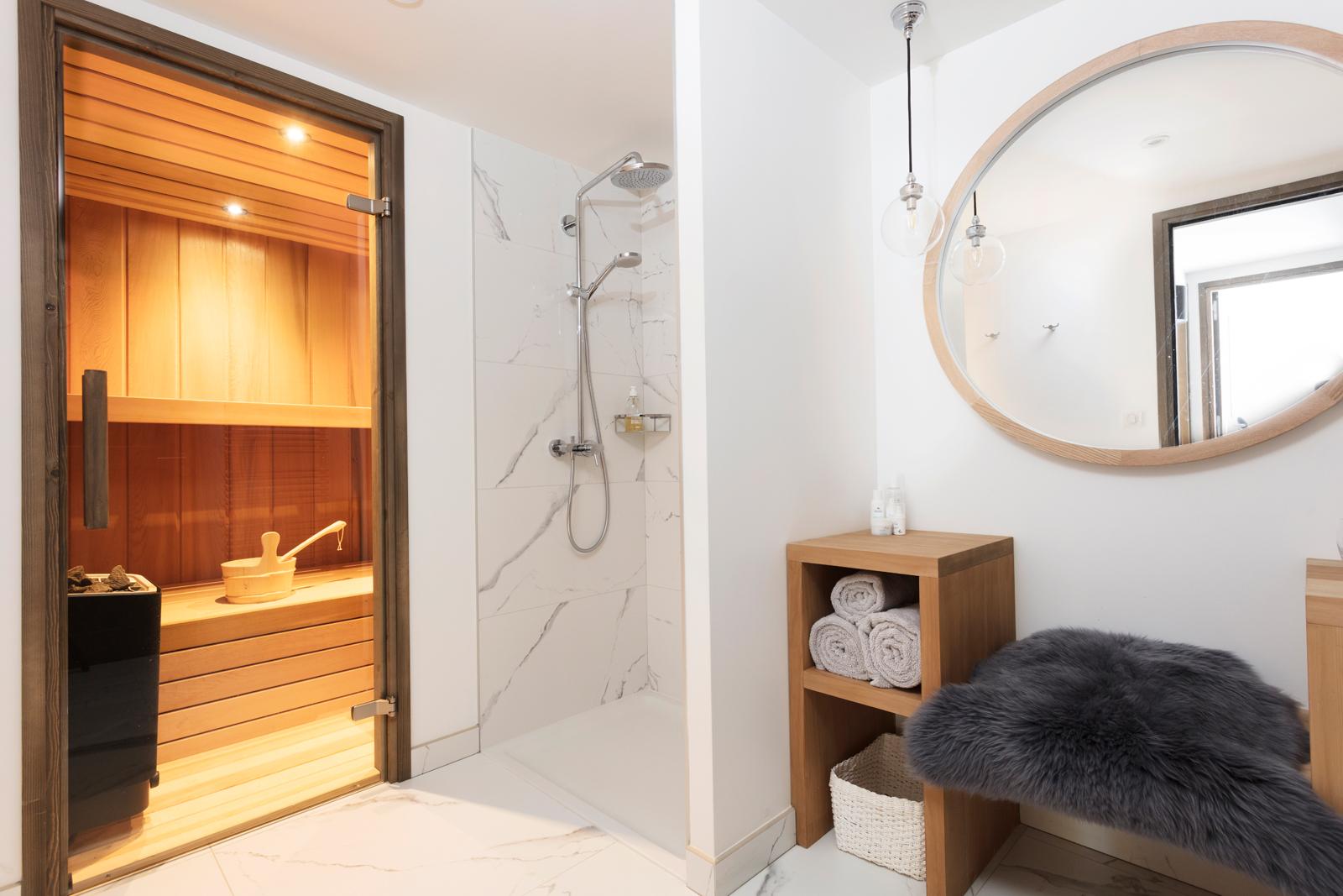 Chalet Mirabelle's super-relaxing sauna