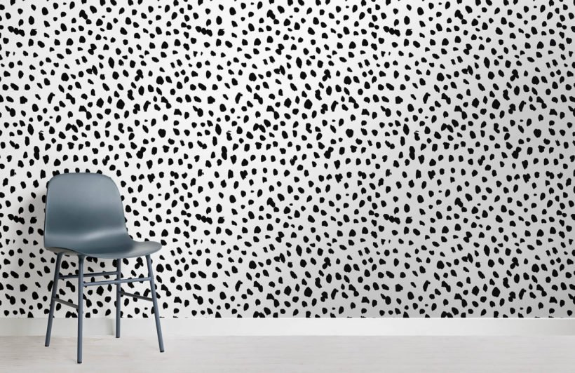 Dotty doggy wallcovering from  Murals Wallpaper