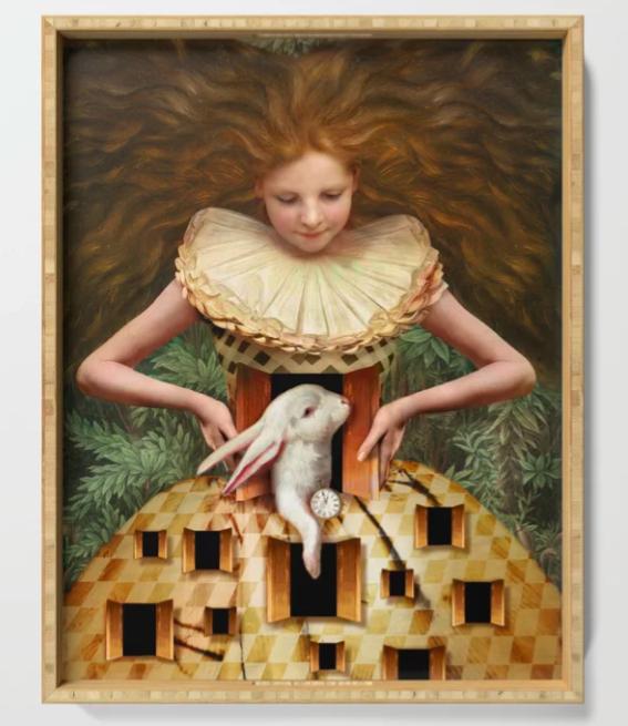 Hello Alice Framed Print by  Society6