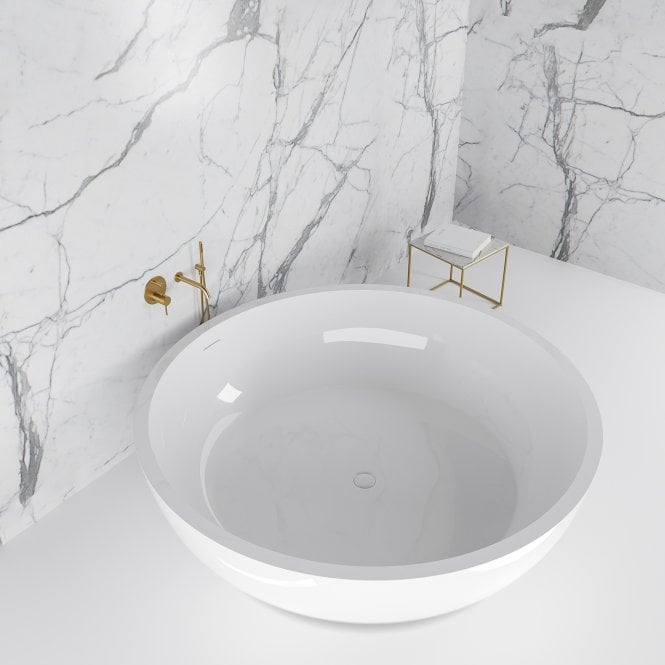 Grande Stone Resin Solid Surface Freestanding Large Round Bath 1900 from  Lusso Stone