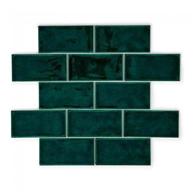 Crackle Bottle Green Tiles from  Porcelain Superstore