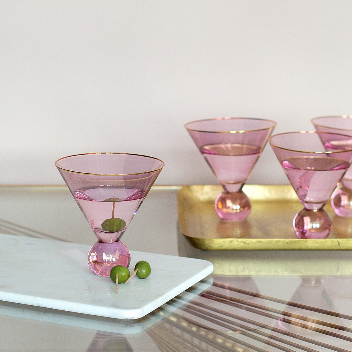 Pink Martini Glasses  (set of 4) by Audenza, £38.95