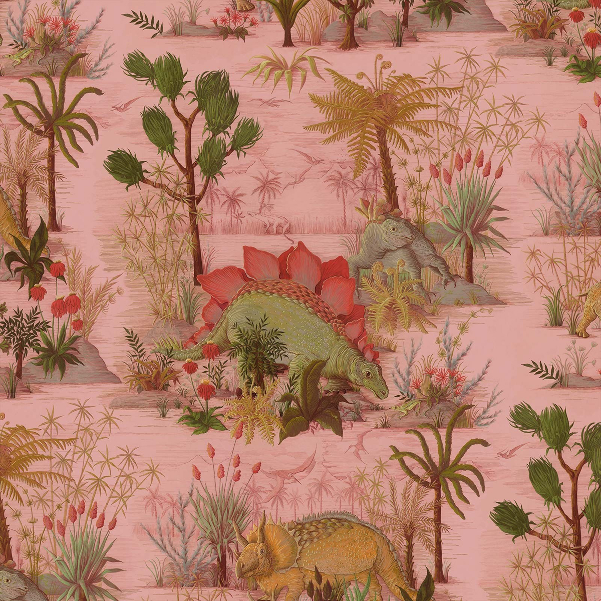 Dinosauria Wallpaper  in Plaster by House of Hackney, £185 per roll