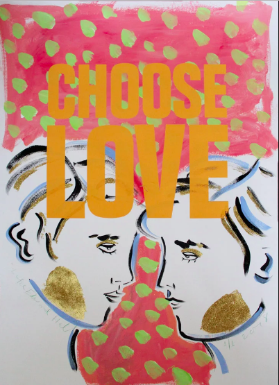 Choose Love prints  by a range of artists via Print London, £30 - £1500. Proceeds go towards Help Refugees, particularly a residential home for vulnerable women in Athens.