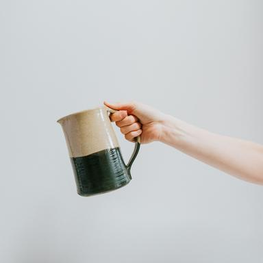 Dip Glaze jug in green  by Aerende, £49. All of Aerende's products are made in the UK by people facing social challenges.