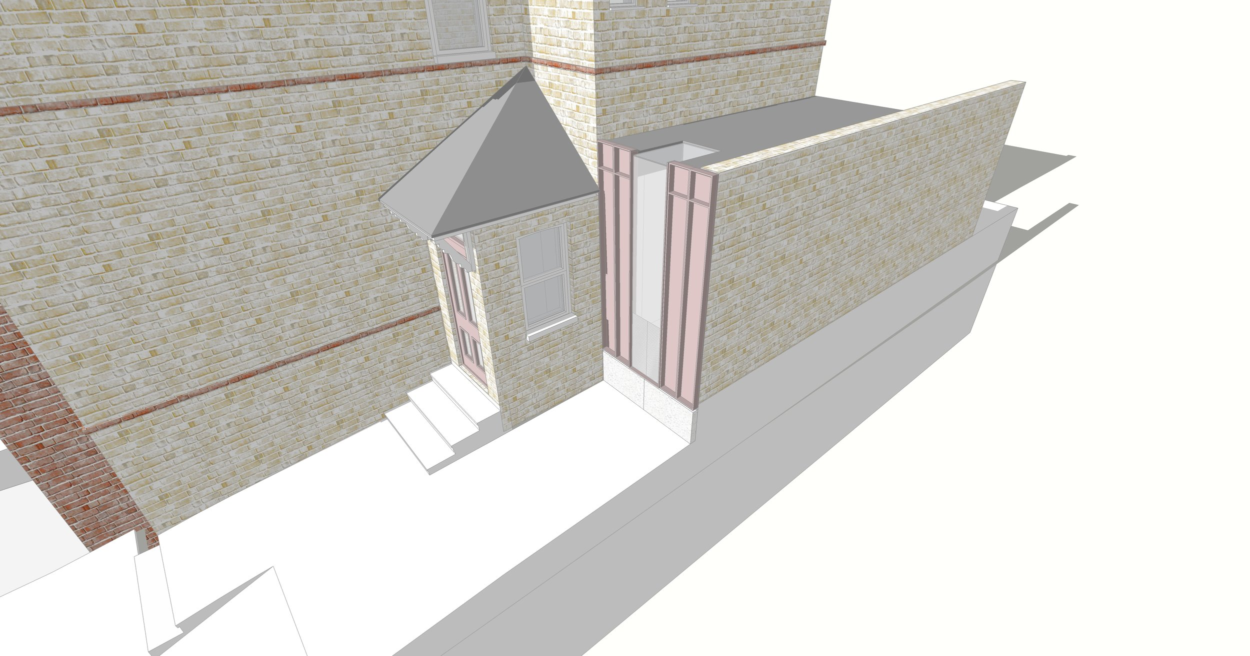 The Pink House shower room extension