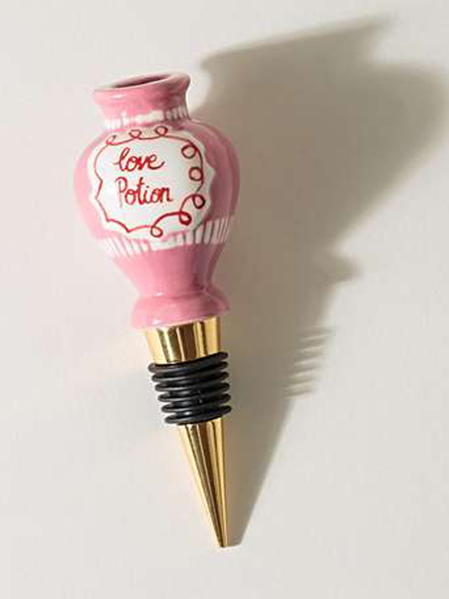 Love Potion Pink Bottle Stop  by Oliver Bonas, £9