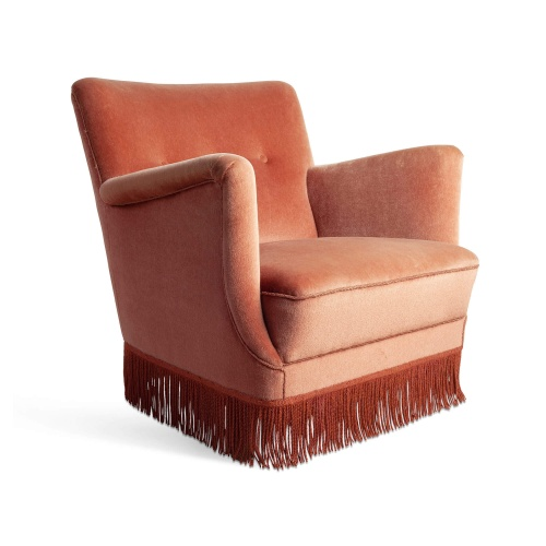 Vintage Pink Fringed Armchair, £475 from Soho Home