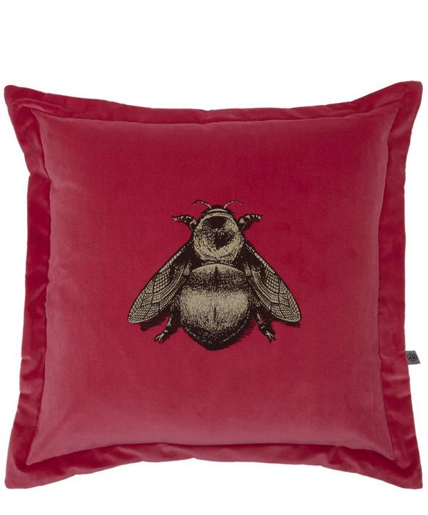 TIMOROUS BEASTIES Napoleon Bee Cotton Velvet Cushion, £125 from  Liberty