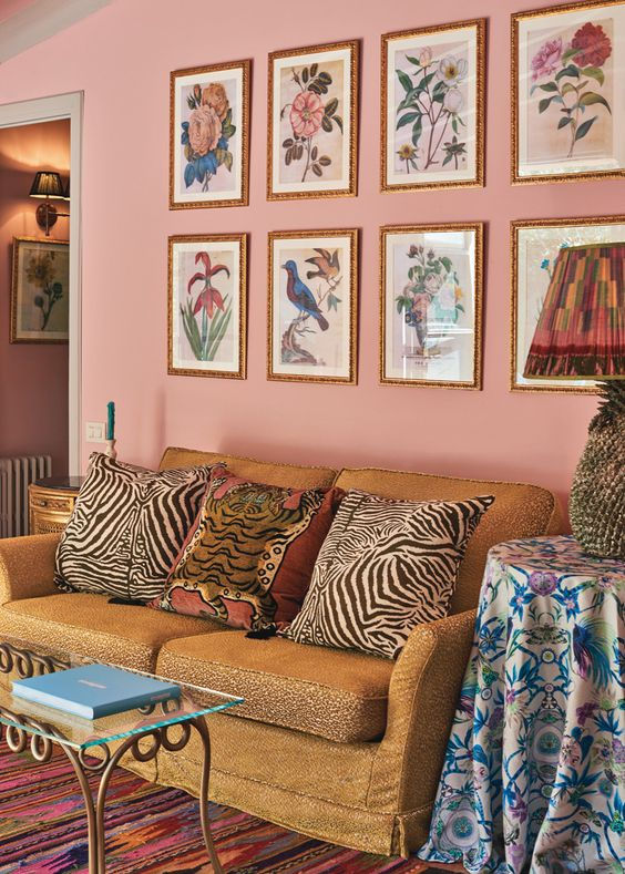Is that leopard print, tiger print AND zebra print on one sofa?? Suite 67 at the Belmond la Residencia