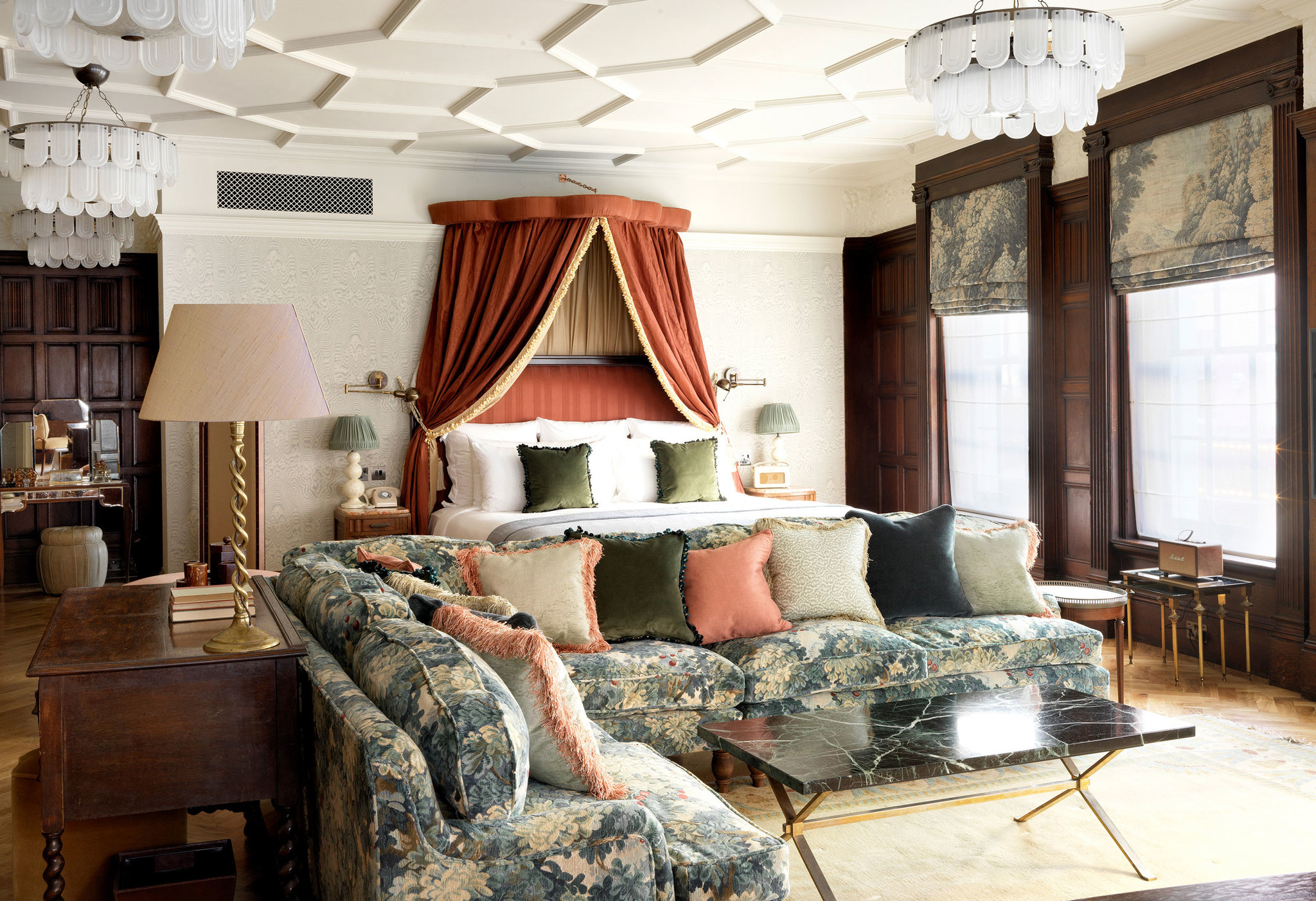 Like butter wouldn't melt… the historically infamous Jacobean Suite at Soho House Kettner's.