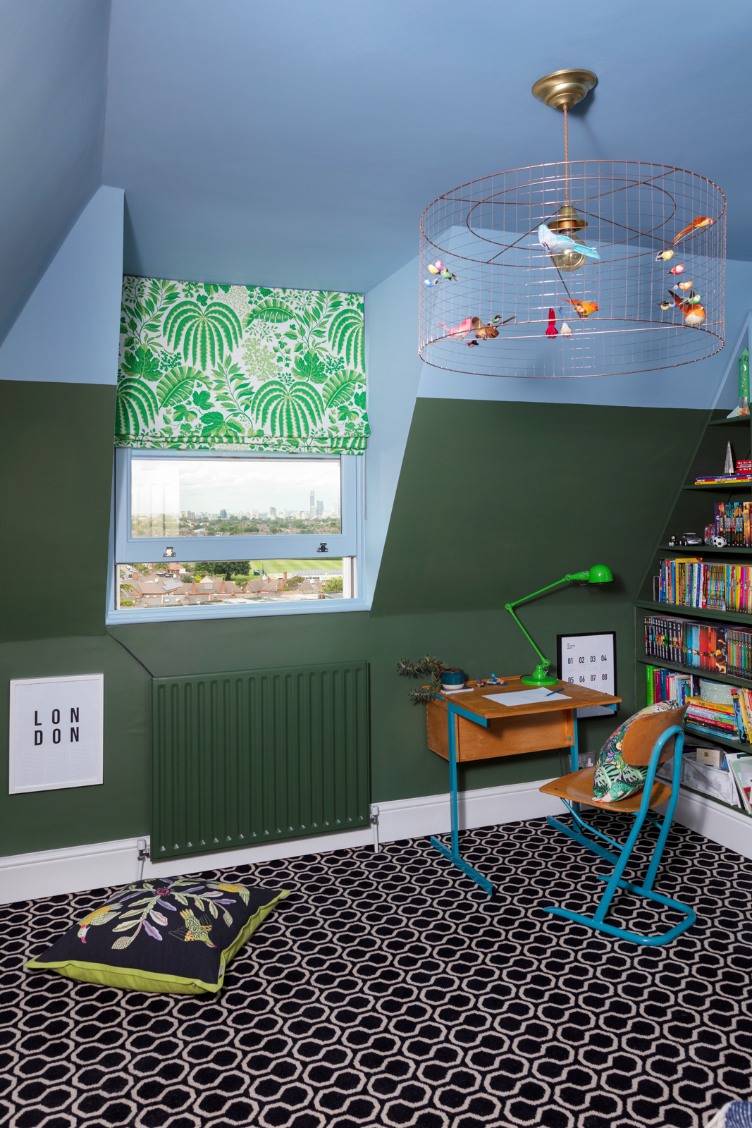 Alternative Florring Quirky B Honeycomb carpet in a child's room