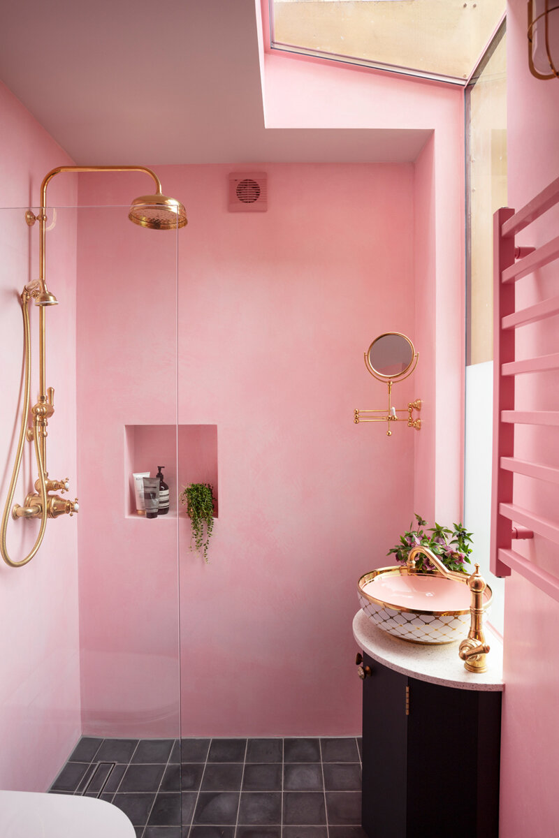 Revealed The Pink House Shower Room The Pink House