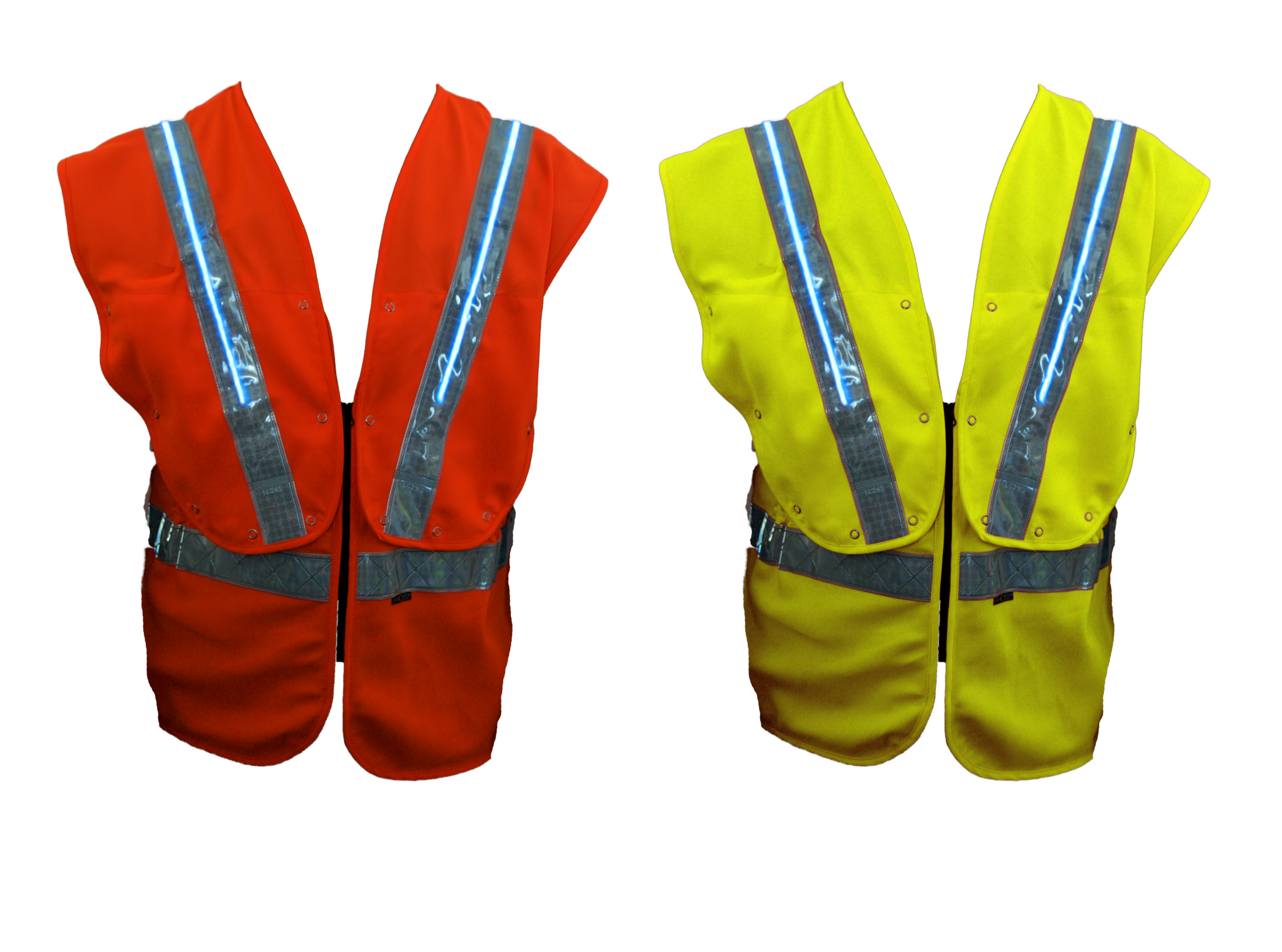FiContego Anti-Entanglement Safety Vest   100% Polyester • Water resistant • Adjustable waist • Anti Entanglement feature • Comfort shoulder design • Sealed Fhoss illuminated strip • Colour options: Yellow & Orange   Test Criteria /  EN ISO 20471:2013 • ANSI / ISEA 107 • CSA Z96:02/09 • GO/RT3279 • IP 67 Connector