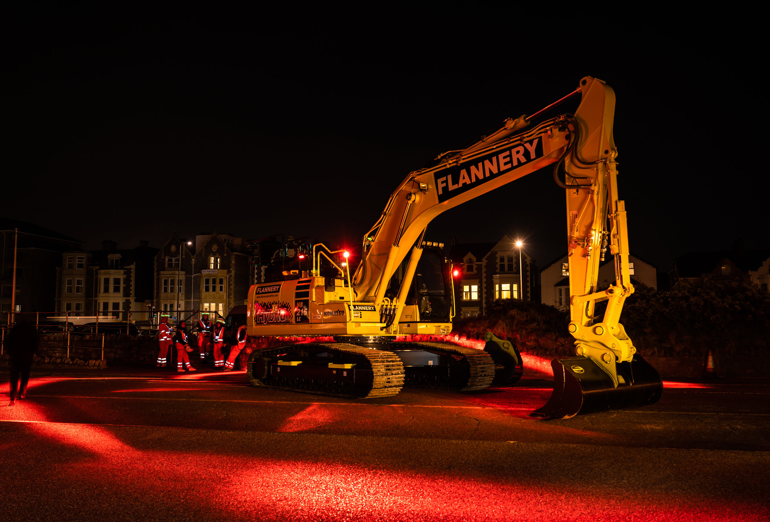 """We're on-board with safety applications, and now have in excess of 10 machines equipped with the FHOSS Halo Exclusion system.""  Chris Matthew, strategic manager for Wembley, London-based Flannery Plant Hire."