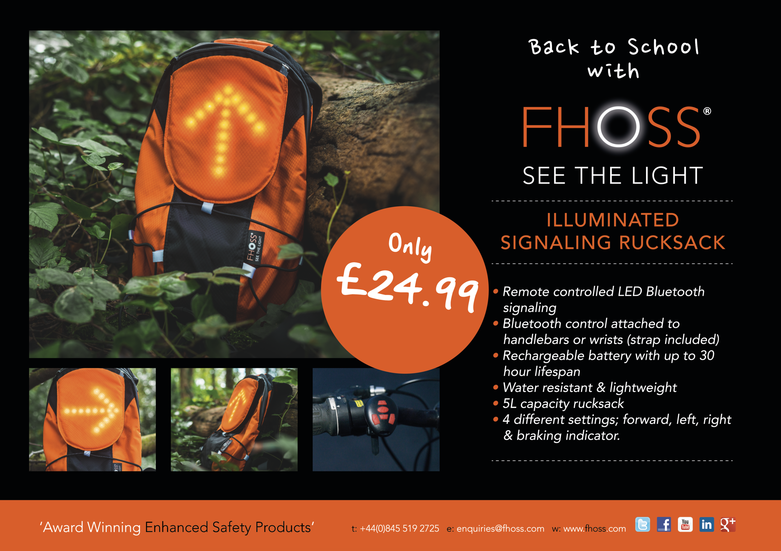 FHOSS Illuminated Signalling Rucksack